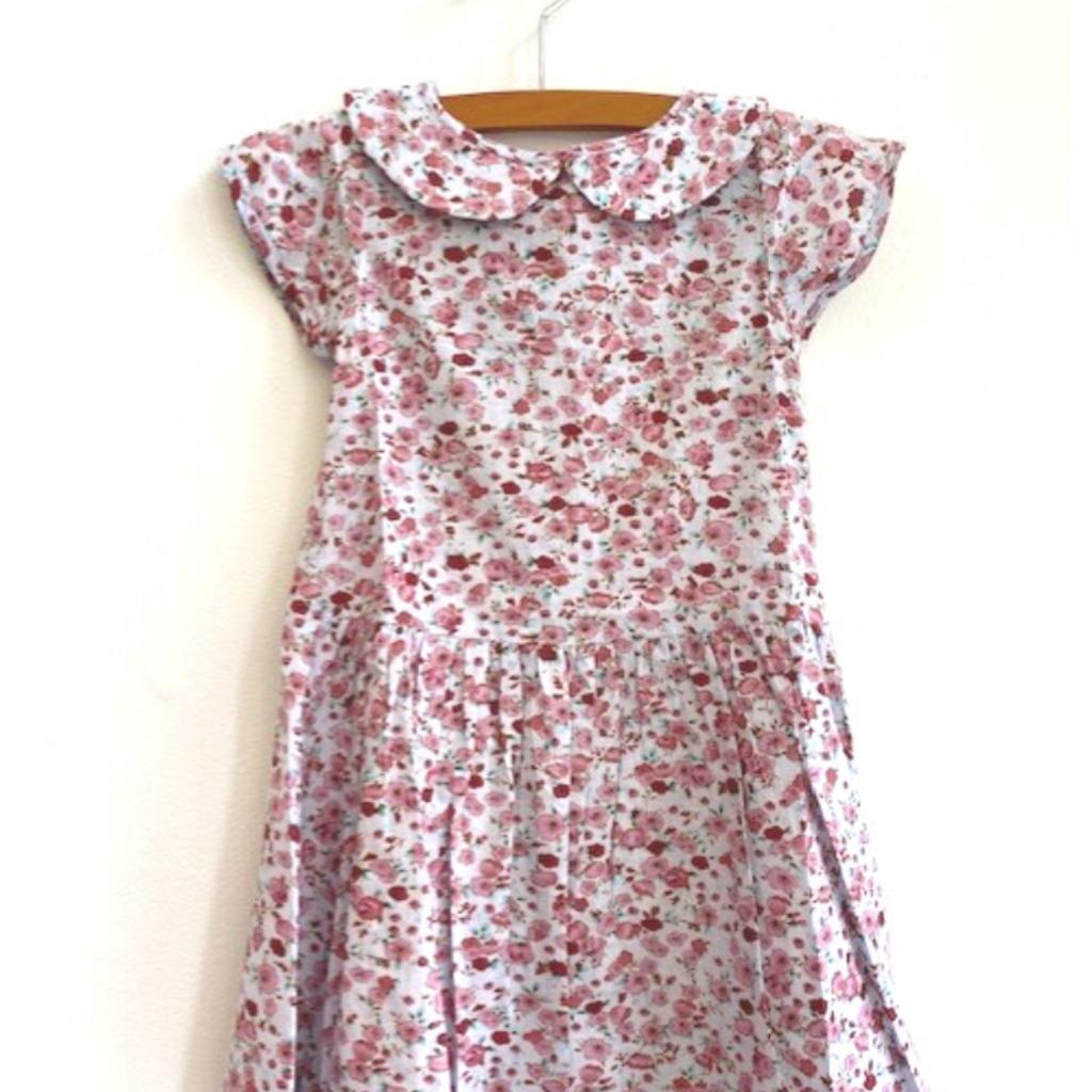 Ren & Rouge  Blue Floral Wide Collar Dress
