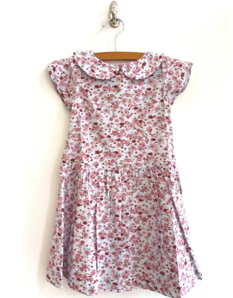 Ren & Rouge Ren & Rouge| Blue Floral Wide Collar Dress