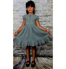 Ren & Rouge Ren & Rouge | Sage Green Ruffled Dress