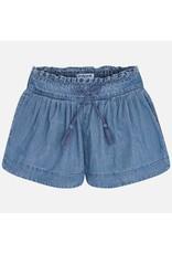 Mayoral Mayoral | Pleated Denim Shorts