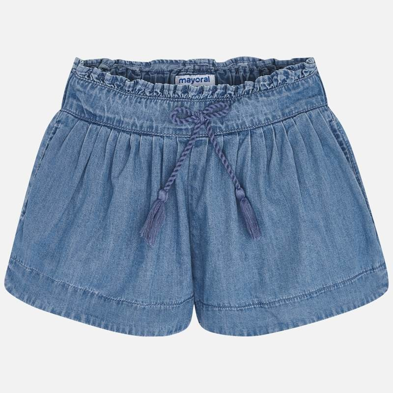 Mayoral Mayoral | Pleated Denim Shorts