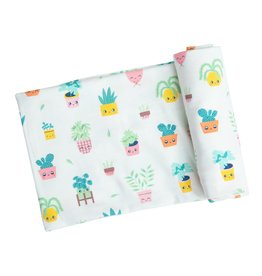 Angel Dear Angel Dear | House Plants Bamboo Jersey Swaddle