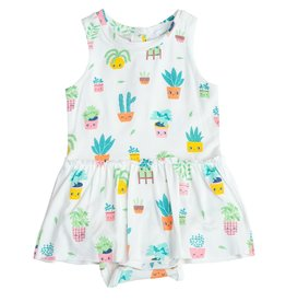 Angel Dear Angel Dear | House Plants Skirted Bodysuit