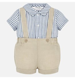 Mayoral Mayoral | Linen Shirt & Short Set