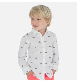 Mayoral Mayoral   Racecar Print Button Down