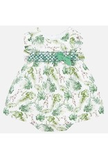 Mayoral Mayoral   Smocked Linen Baby Dress