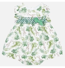 Mayoral Mayoral | Smocked Linen Baby Dress
