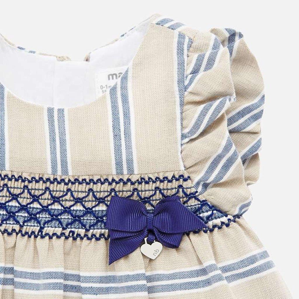 Mayoral Mayoral | Linen Stripe Baby Dress