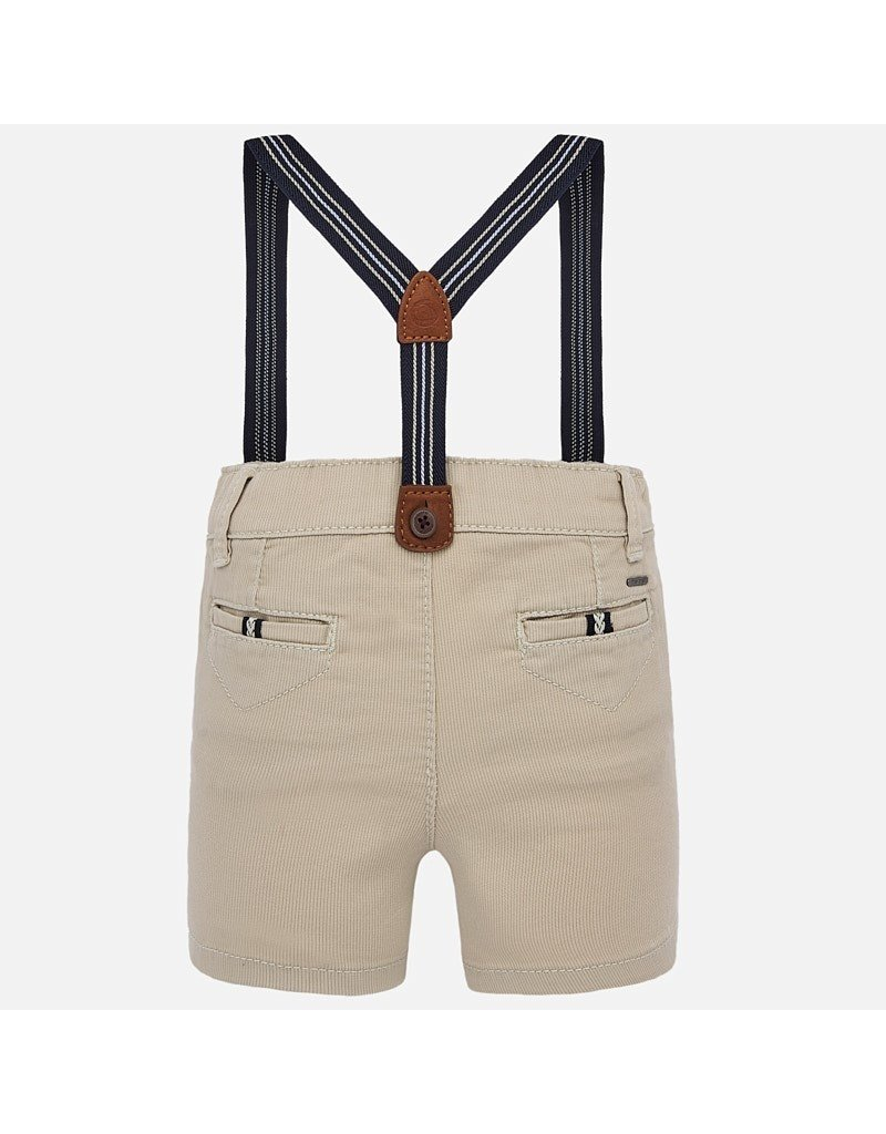 Mayoral Mayoral | Baby Shorts with Suspenders