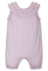 Feather Baby Feather Baby |Double Ruffle Romper in Soft Pink
