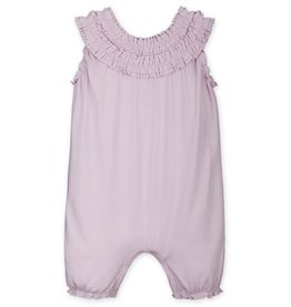 Feather Baby Feather Baby | Double Ruffle Romper in Soft Pink