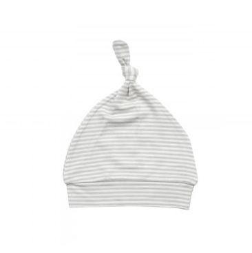 Angel Dear Angel Dear | Grey Stripe Knot Hat