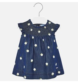 Mayoral Mayoral | Smocked Denim Baby Dress