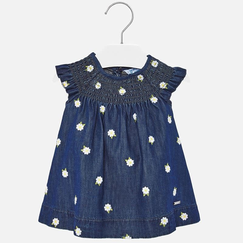 Mayoral Mayoral | Smocked Denim Baby Dress