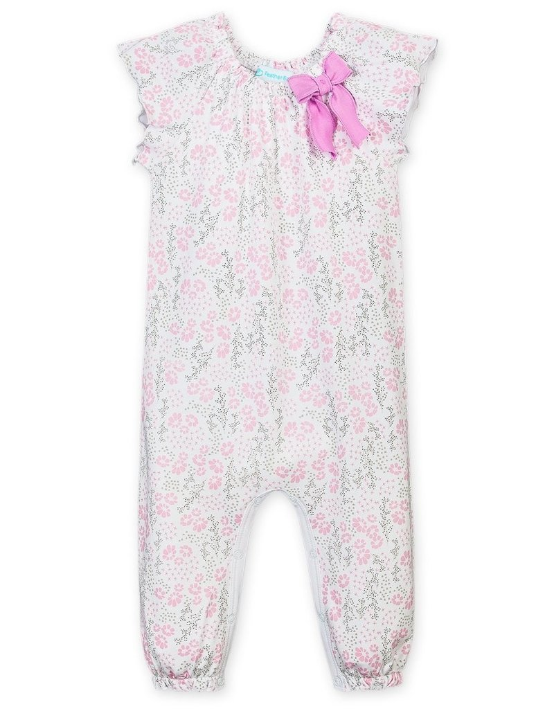 Feather Baby Feather Baby   Allie Floral Ruched Romper