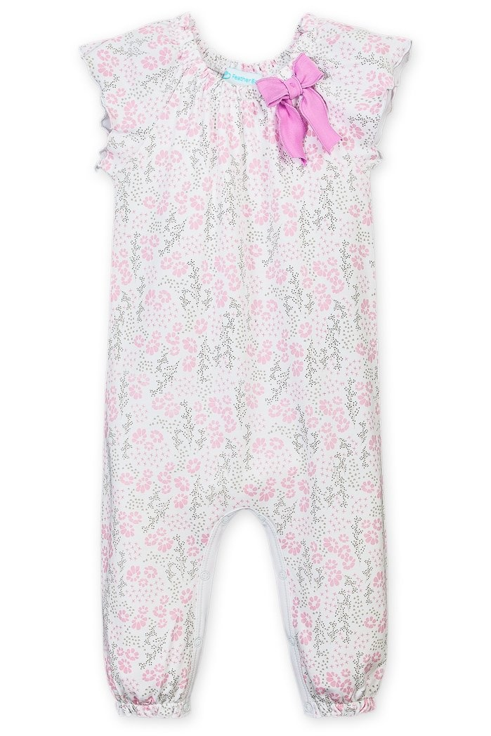 Feather Baby Feather Baby | Allie Floral Ruched Romper