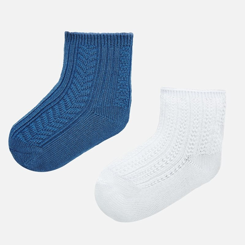 Mayoral Mayoral | 2 Pack Ribbed Baby Socks