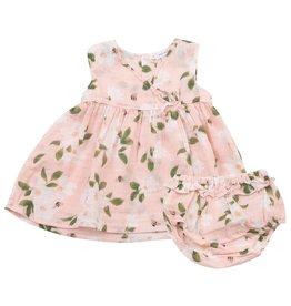 Angel Dear Angel Dear | Magnolias Kimono Style Baby Dress