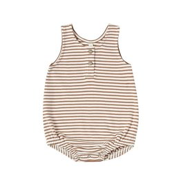 Quincy Mae Quincy Mae | Sleeveless Bubble in Rust Stripe