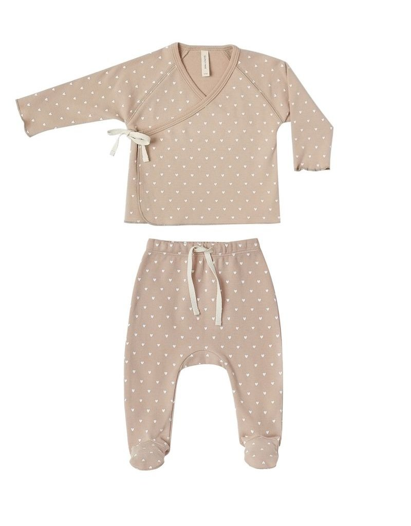 Quincy Mae Quincy Mae | Kimono Top & Footed Pant Set in Petal