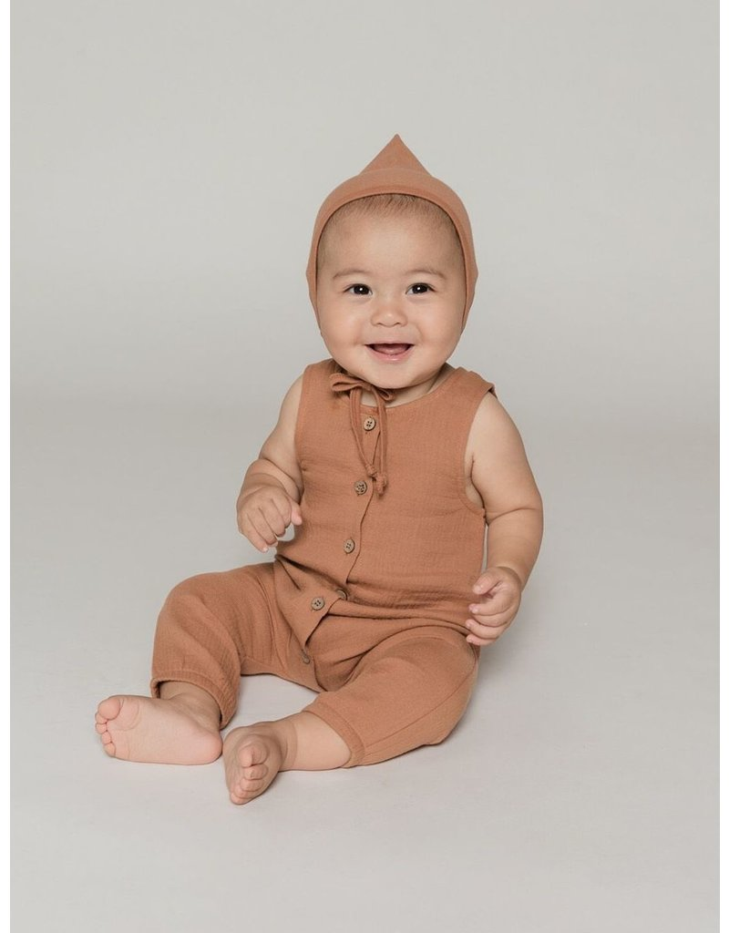 Quincy Mae Quincy Mae | Woven Jumpsuit in Rust
