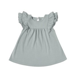 Quincy Mae Quincy Mae | Flutter Dress in Ocean