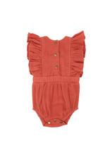 L'oved Baby   Muslin Ruffled Bodysuit