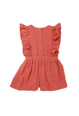 L'oved Baby L'oved Baby | Muslin Toddler Romper in Melon