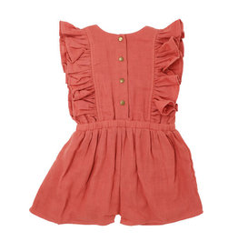 L'oved Baby   Muslin Toddler Romper in Melon