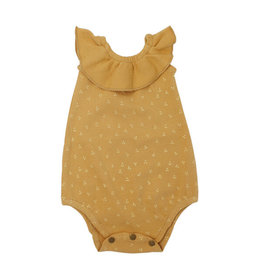 L'oved Baby | Sleeveless Ruffled Bodysuit in Honey Dots