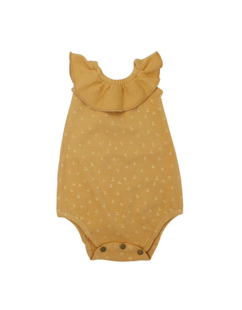 L'oved Baby L'oved Baby   Sleeveless Ruffled Bodysuit in Honey Dots
