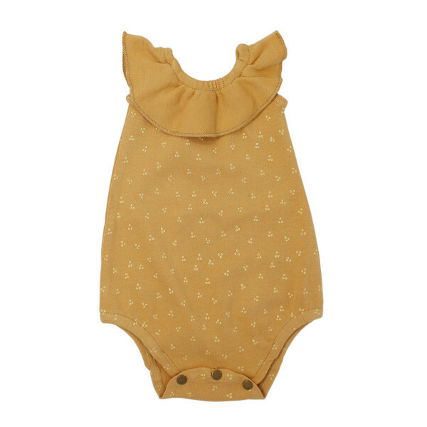L'oved Baby L'oved Baby | Sleeveless Ruffled Bodysuit in Honey Dots