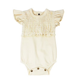 L'oved Baby | Smocked Bodysuit in Ivory