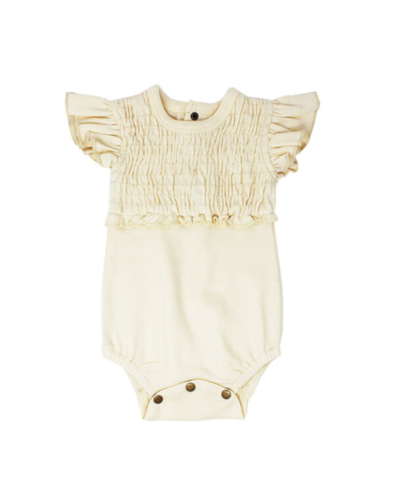 L'oved Baby | Smocked Bodysuit in Ivory