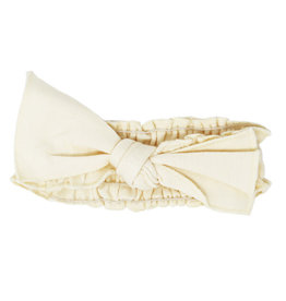 L'oved Baby | Smocked Headband in Ivory