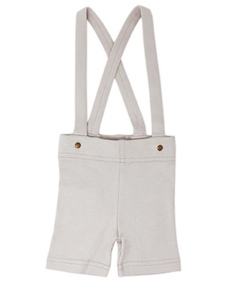 L'oved Baby | Suspender Shorts in Light Gray