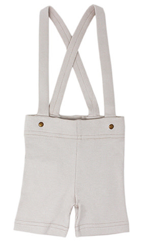 L'oved Baby L'oved Baby | Suspender Shorts in Light Gray