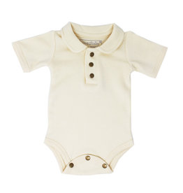 L'oved Baby | Polo Bodysuit in Ivory