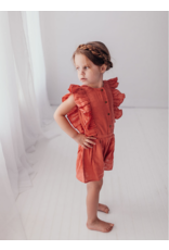 L'oved Baby | Muslin Toddler Romper in Melon