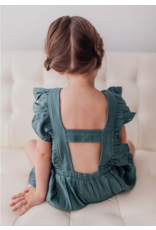 L'oved Baby L'oved Baby   Muslin Toddler Romper in Oasis