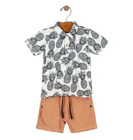 Up Baby | Pineapple Polo Set