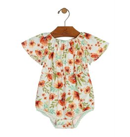Up Baby| Floral Romper & Headband Set