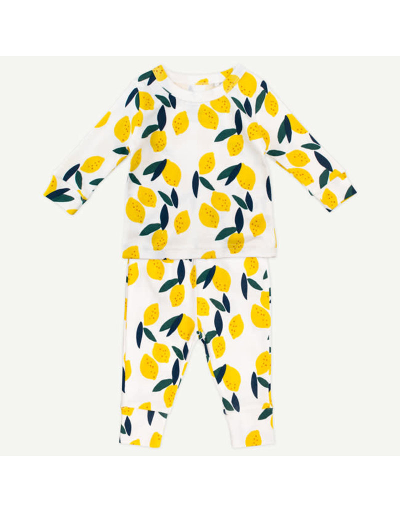 Oliver & Rain Oliver & Rain | Lemons 2 Piece Pajama Set