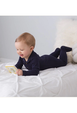 L'oved Baby | Organic Polo Footie in Navy
