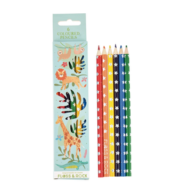 Floss & Rock Jungle Pack of 6 Colored Pencils
