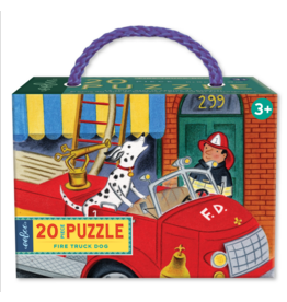 eeBoo eeboo | Fire Truck Dog 20pc Puzzle