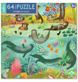 eeBoo eeboo | Otters at Play 64 Piece Puzzle