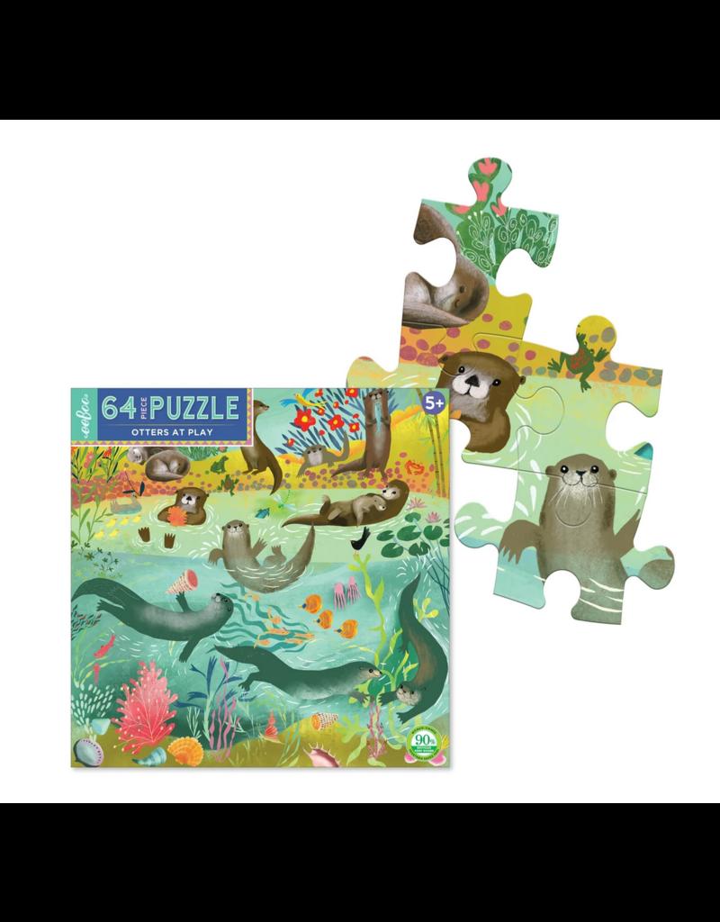 eeBoo eeboo | Otters at Play 64 Piece Puzzle
