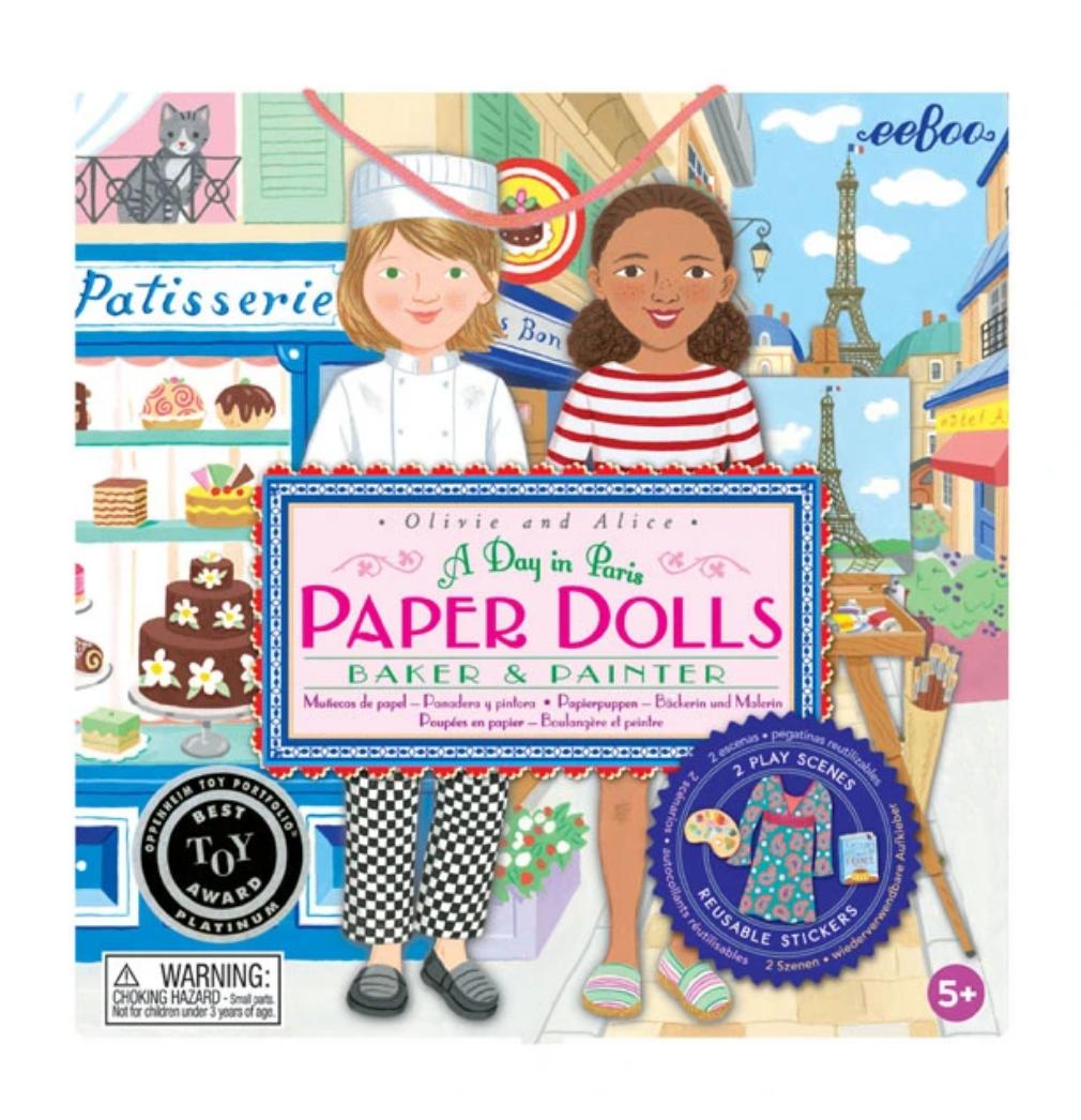 eeBoo eeboo   Paper Dolls - A Day in Paris