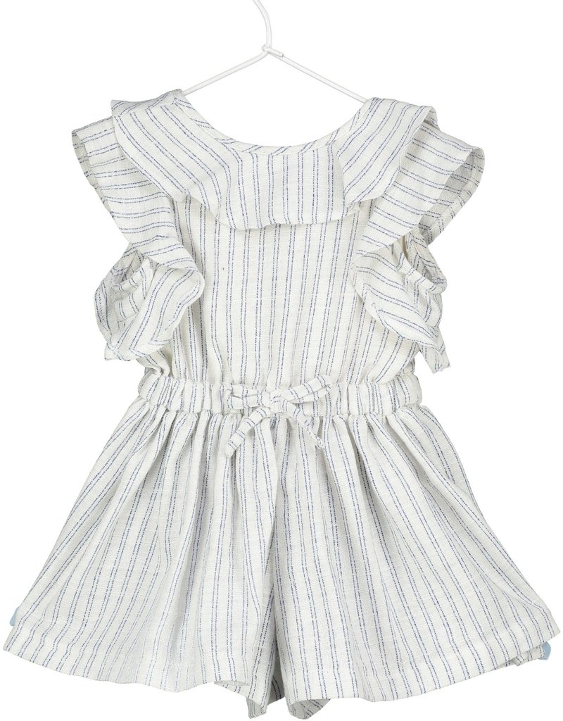 Vignette Vignette | Sandy Romper in Navy Stripe